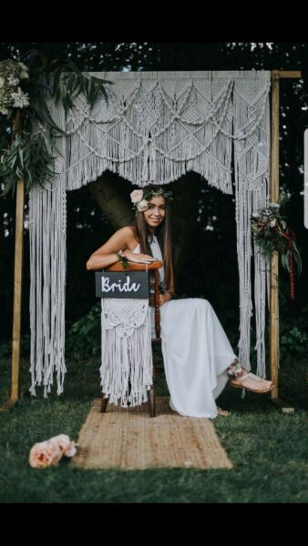 Photo of Macrame wedding arch made by Little White Attic @little_white_attic (instagram)