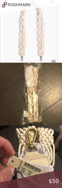 Photo of Madewell The Shoulder Bag Strap: Macramé Edition New in packaging with tags Gor…