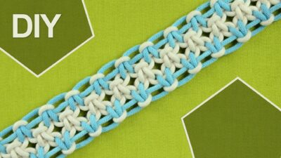 Photo of Square knot variations with eight strings. DIY Tutorial