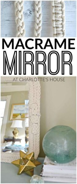 Photo of Use simple cotton rope to make this custom hand-mirrored macrame mirror. Best pa…