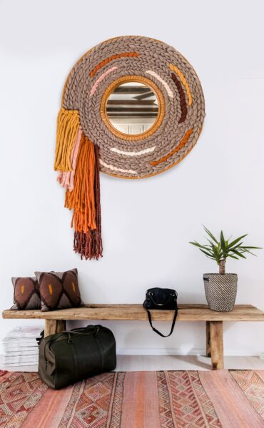 Photo of Woven Mirror Tapestry